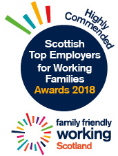 Scottish Top Employers for Working Families - Highly Commended 2018 logo